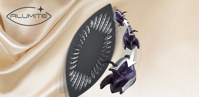 کفهی آلومینیوم اتو با طراحی زیبا و خاص خود ضد خش بوده و به نرمی روی لباس به صورت 360 درجه حرکت میکند