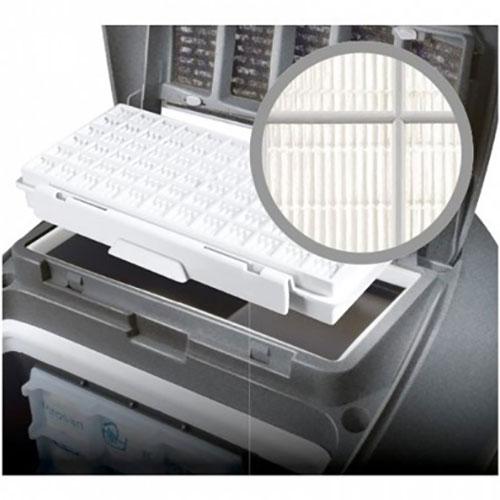 با فیلتر Hepa Allergy که به خوبی در این محصول تعبیه شده، شاهد کمترین مقدار گرد و غبار حین جاروکشی هستید.