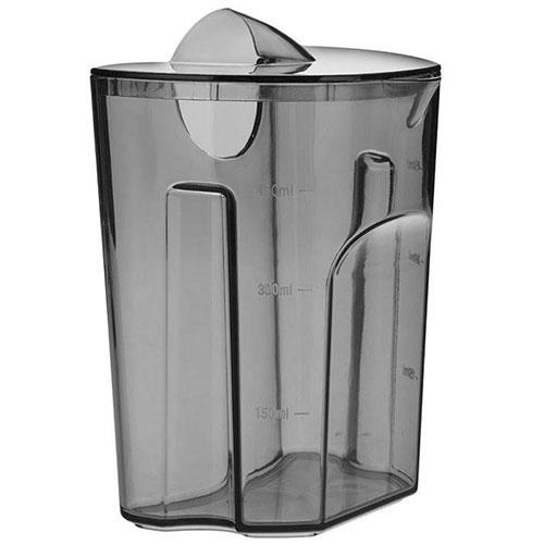 مخزن آب میوه گیری این دستگاه تقریبا نیم لیتر گنجایش دارد و در هر بار عملکرد می تواند 2 تا 3 لیوان آب میوه تهیه کند.