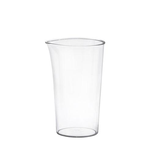لیوان شفاف و مدرج به شما کمک میکند که علاوه بر مخلوط کردن مواد، مقدار آن را اندازه گیری کنید.