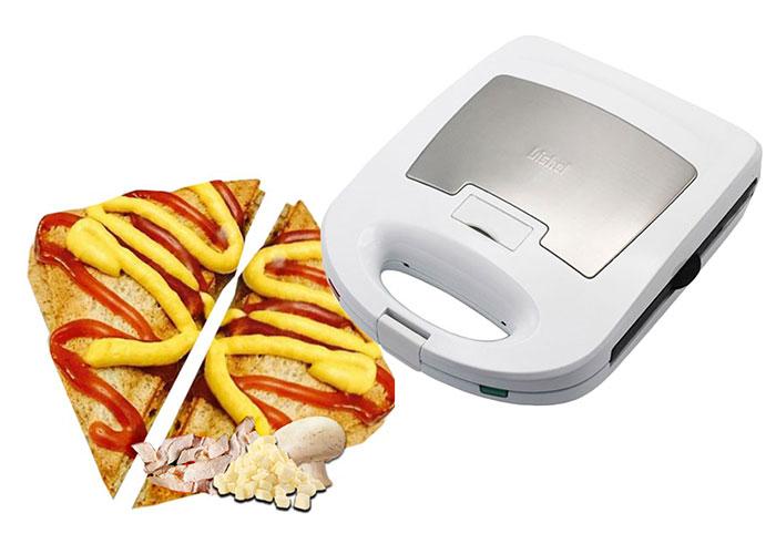 جنس ساندویچ ساز بیشل از پلاستیک فشرده و مقاوم است همچنین داشتن دستگیره عایق حرارت باعث شده تا در حین کار دستتان نسوزد.