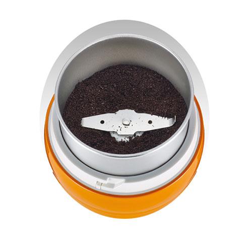 گنجایش مخزن 50 گرم است و در هر بار استفاده از آسیاب، تقریبا 8 فنجان قهوه به شما تحویل میدهد.
