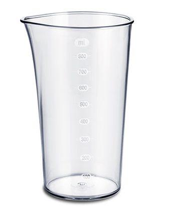 به همراه این دستگاه یک لیوانمدرج800 میلی لیتری نیز ارائه شده که برای کوبیدن و له کردن انوع مواد غذایی کاربرد دارد.