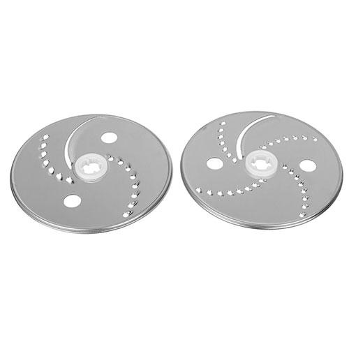 این محصول با 2 دیسک رنده استیل ضد زنگ (رنده ریز، رنده درشت، چیپس ساز) میتواند به شما در درست کردن انواع سالاد کمک نماید.