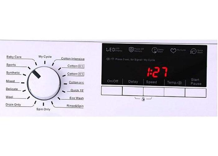 در قسمت بالای درب این محصول پنلی برای تنظیم حالات مختلف دستگاه تعبیه شده است. این پنل ترکیبی از دکمه فشاری و کلید گردان میباشد که استفاده از این محصول را راحتتر میکند.