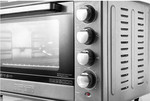 شما به کمک کلیدهای گردان میتوانید زمان و دمای مطلوبتان را برای پخت انواع غذا مشخص کرده و همچنین المنتهای پایین، بالا یا هردو را به صورت همزمان روشن نمایید.